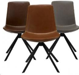 Zoso Chair, faux leather swivel KFI Stuio
