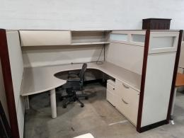 Kimball Cubicles with Wood Trim