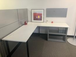 L Desks with Privacy Cubicle PartitionPanels
