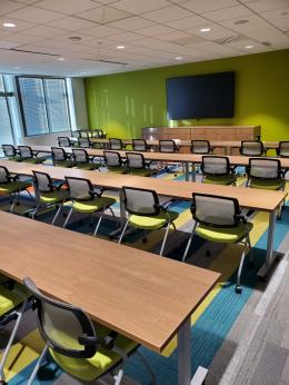Media and Training Room with Nesting Chairs