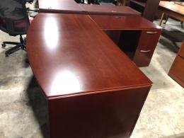 National Mahogany L-Desk
