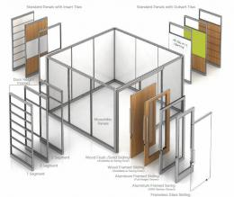Movable wall Products Offices with doors