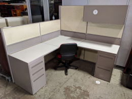 GLOBAL 6' X 6' HIGH/LOW CUBICLES
