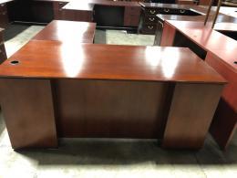 Kimball Mahogany L-Desk