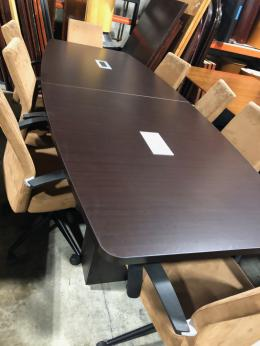 10' Espresso Boat Conference Table