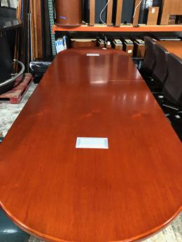 12' Racetrack Cherry Conference Table