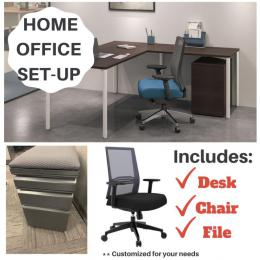 Home office setup with in stock options