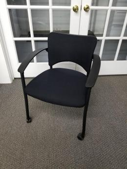 Refurbished Teknion Amicus mobile Side chair