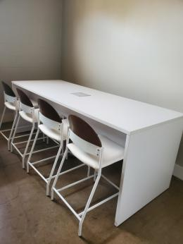 White Counter Height Conference Table