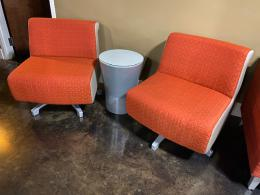 Gunlocke Swivel Club Chair