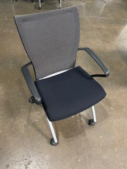 Haworth X-99 nesting side chair with casters