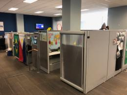 Office Cubicles with Sliding Doors