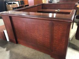 Mahogany U-Shaped Reception Desk