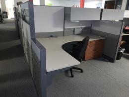 Nice Teknion Leverage 6X8 Workstations