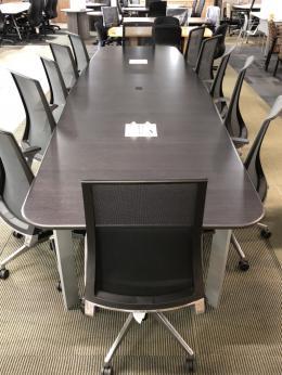 HERMAN MILLER BLACK WOOD CONFERENCE TABLE