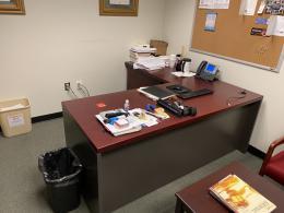 Teknion Mahogany L-Desks