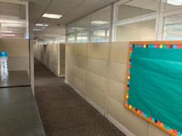 FLOOR TO CEILING CUBICLE WALLS