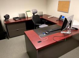 Teknion Mahogany U-Desks