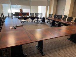Large Circular Conference Table