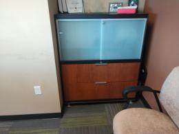 Glass Door Storage Cabinet