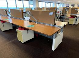 Steelcase Sit Stand Benching Stations