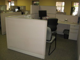 Haworth Premise Hi Lo Used Cubicles